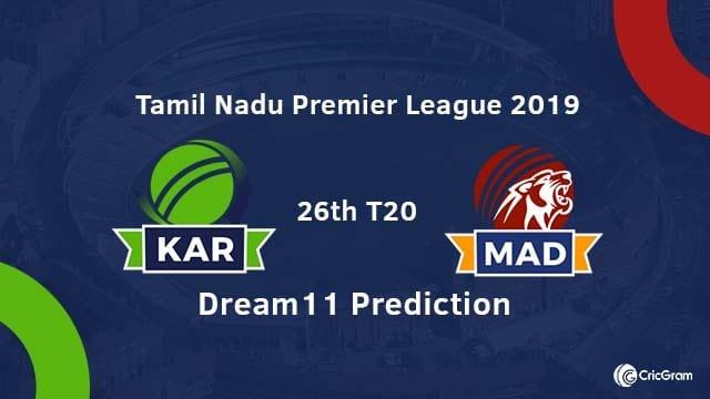 KAR vs MAD Dream11 Team Prediction