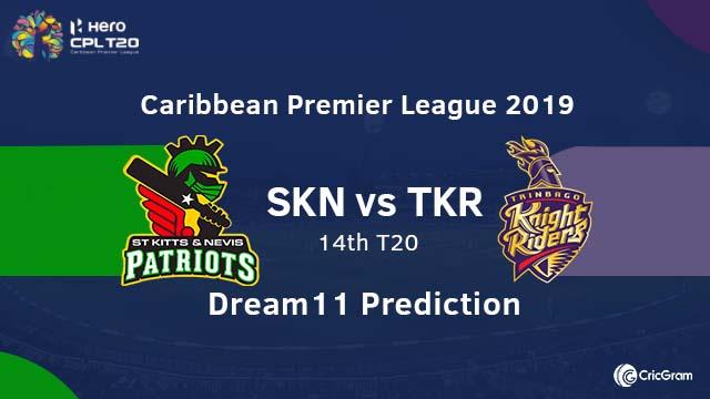 SKN vs TKR Dream11 Team