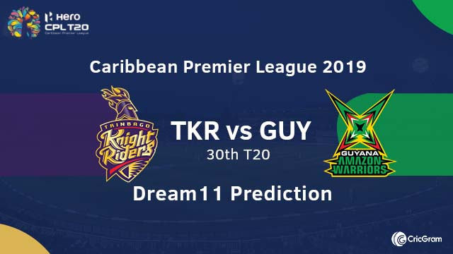 TKR vs GUY Dream11 Team Prediction
