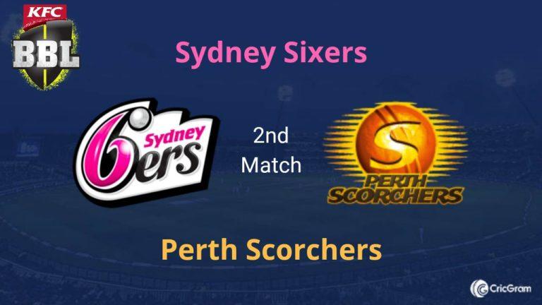 SIX vs SCO Dream11 Prediction 2nd Match BBL 2019-20