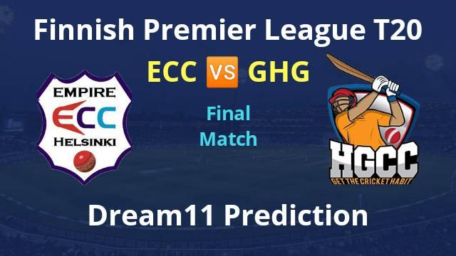 ECC vs GHG Dream11 Prediction Final Match