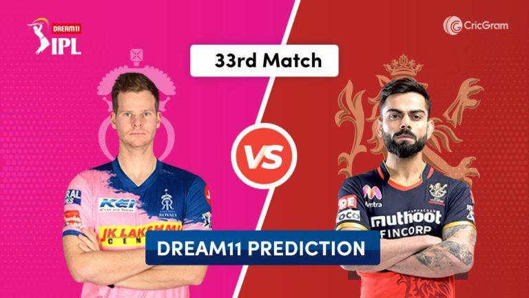 RR vs BLR Dream11 Prediction 33rd Match IPL 2020