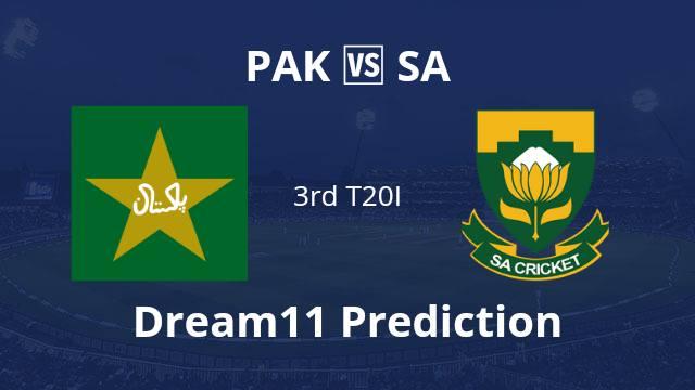 PAK vs SA Dream11 Prediction 3rd T20I