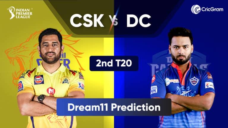 CSK vs DC Dream11 Prediction 2nd Match IPL 2021