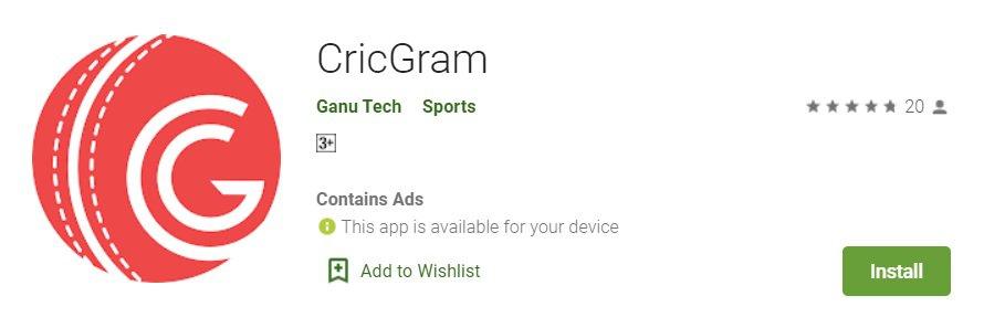 Cricgram Dream11 Prediction App
