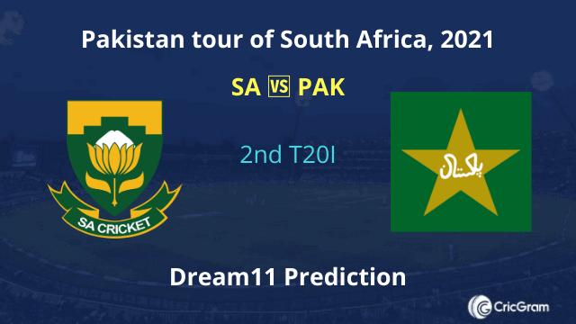 SA vs PAK 2nd T20I Dream11 Prediction