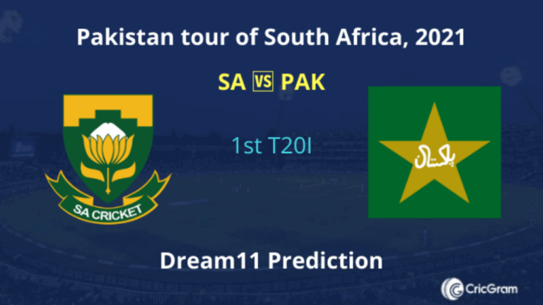 SA vs PAK Dream11 Prediction 1st T20I