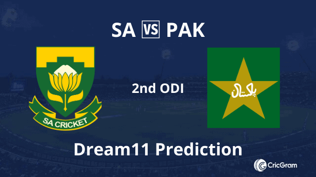 SA vs PAK Dream11 Prediction 2nd ODI