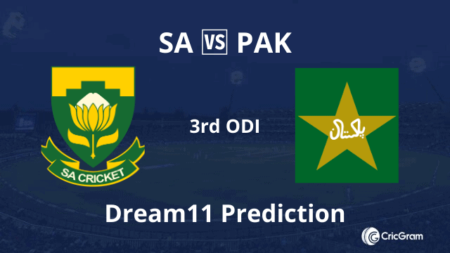SA vs PAK Dream11 Prediction 3rd ODI