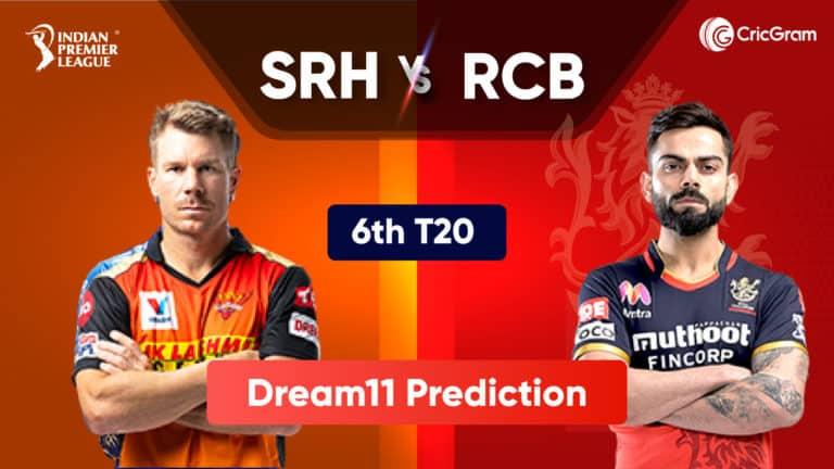 SRH vs BLR Dream 11 Prediction IPL 2021