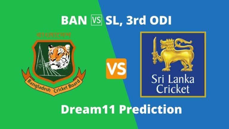 BAN vs SL 3rd ODI Dream11 Prediction