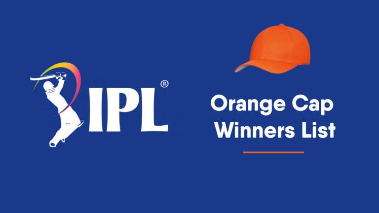 IPL Orange Cap winners list