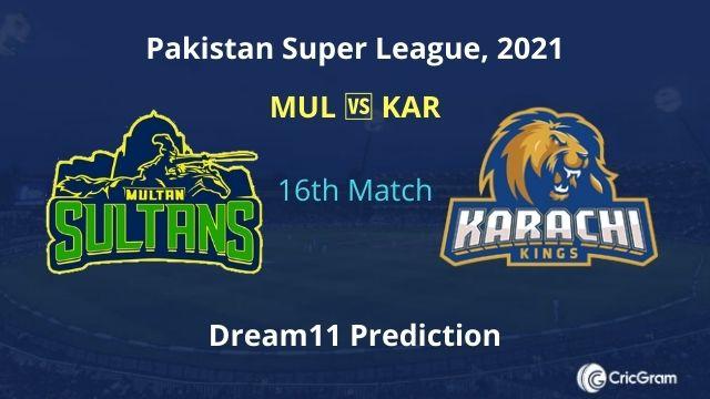 MUL vs KAR Dream11 Prediction PSL 2021