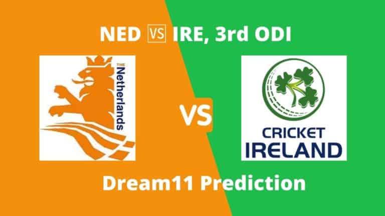 NED vs IRE 3rd ODI Dream11 Prediction