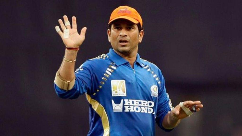 Sachin Tendulkar with IPL Orange Cap