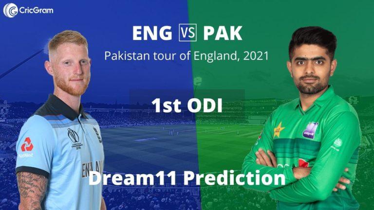 ENG vs PAK Dream11 1st ODI 8th July 2021