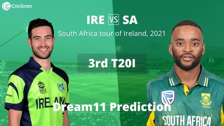 IRE vs SA Dream11 Prediction Today Match 3rd T20I