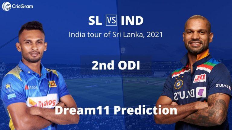 SL vs IND Dream11 2nd ODI 20th July 2021