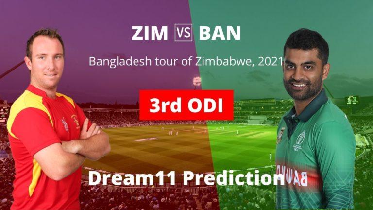 ZIM vs BAN Dream11 Prediction 3rd ODI