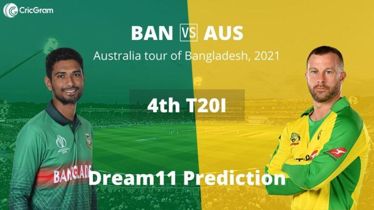 BAN vs AUS 4th T20I Dream11 7th August 2021