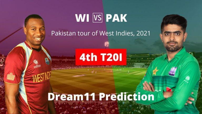 WI vs PAK Dream11 Prediction 4th T20I