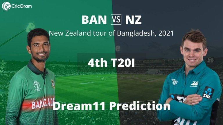 BAN vs NZ Dream11 Team Prediction 4th T20I