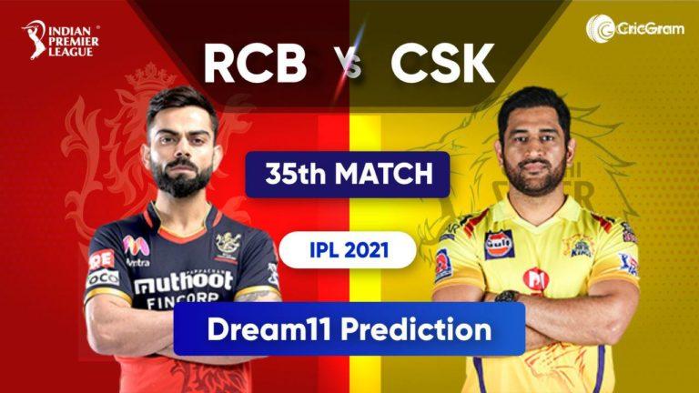BLR vs CSK Dream11 Team Prediction IPL 2021
