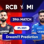 BLR vs MI Dream11 Team Prediction IPL 2021 26th September 2021