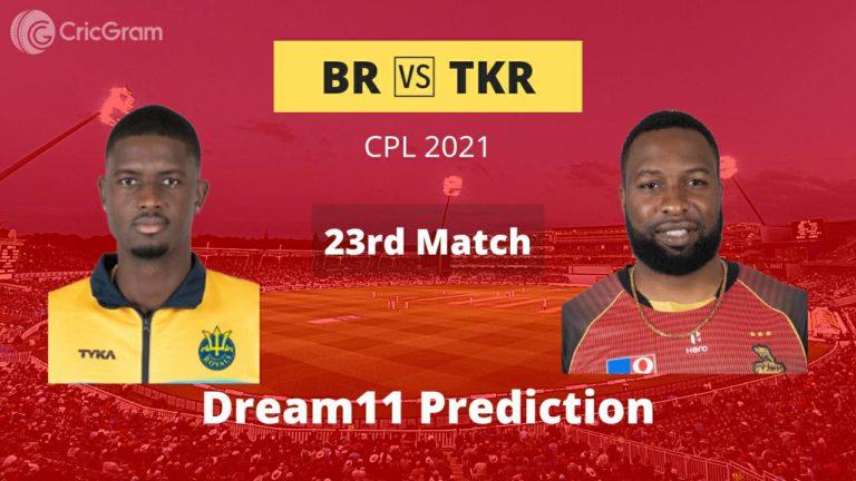BR vs TKR Dream11 Team Prediction CPL 2021