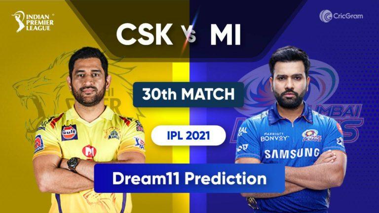 CSK vs MI Dream11 IPL 2021 19th September 2021
