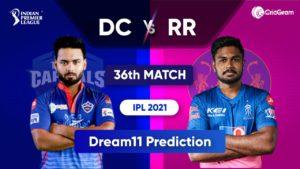 DC vs RR Dream11 Team Prediction IPL 2021