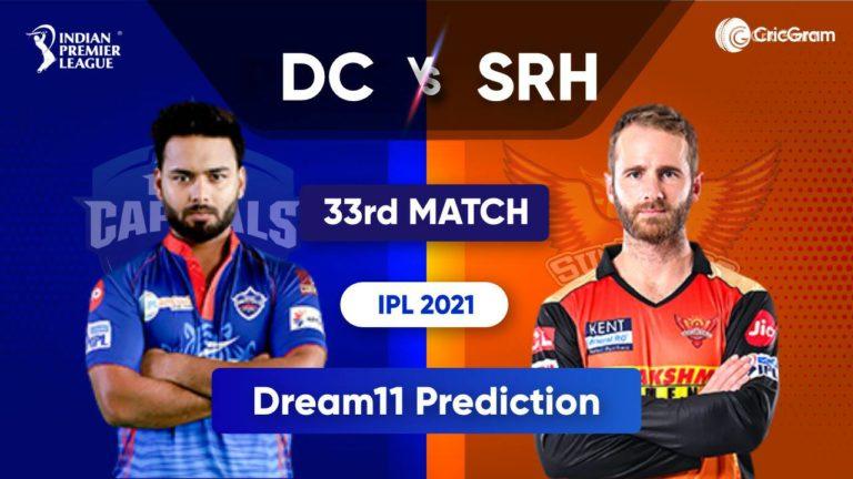 DC vs SRH Dream11 Team Prediction IPL 2021 22nd September 2021