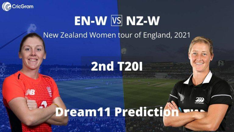 EN W vs NZ W Dream11 2nd T20I