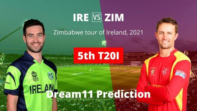 IRE vs ZIM Dream11 5th T20I