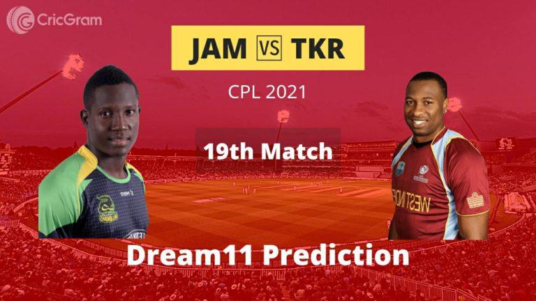 JAM vs TKR Dream11 Team Prediction CPL 2021