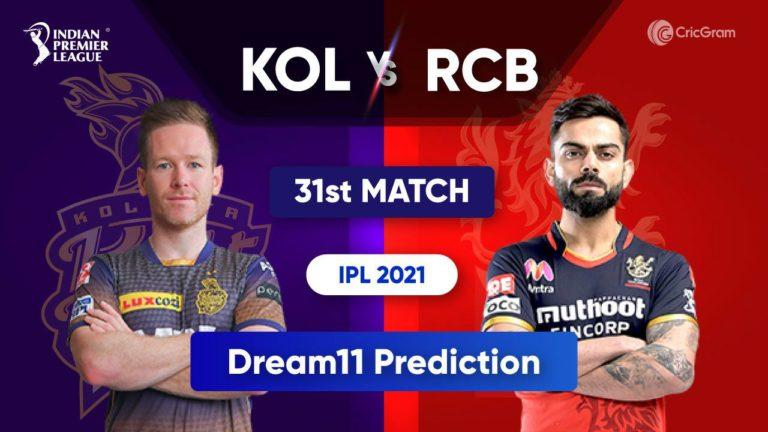 KOL vs BLR Dream11 Team Prediction IPL 2021
