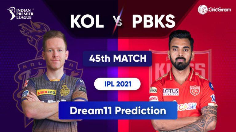 KOL vs PBKS Dream11 Team Prediction IPL 2021 1st October 2021