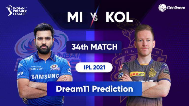 MI vs KOL Dream11 Team Prediction IPL 2021 23rd September 2021