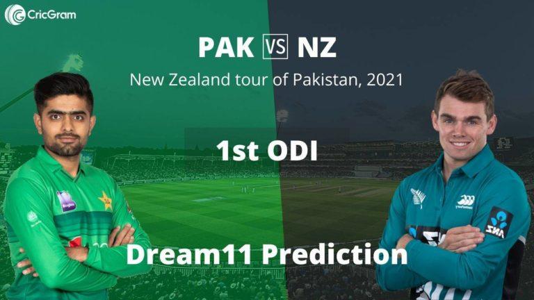PAK vs NZ 1st ODI Dream11