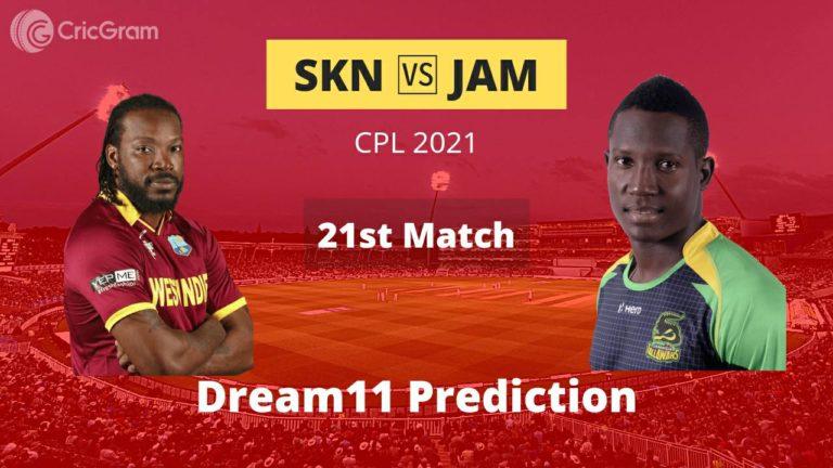 SKN vs JAM Dream11 Prediction CPL 2021