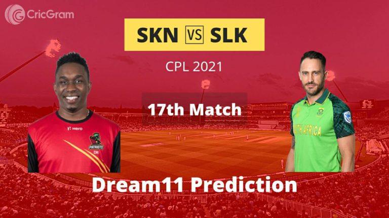 SKN vs SLK Dream11 Prediction
