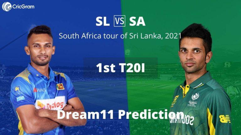 SL vs SA Dream11 1st T20I
