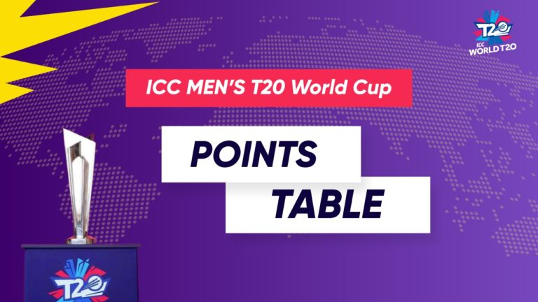 ICC T20 World Cup 2021 Points Table